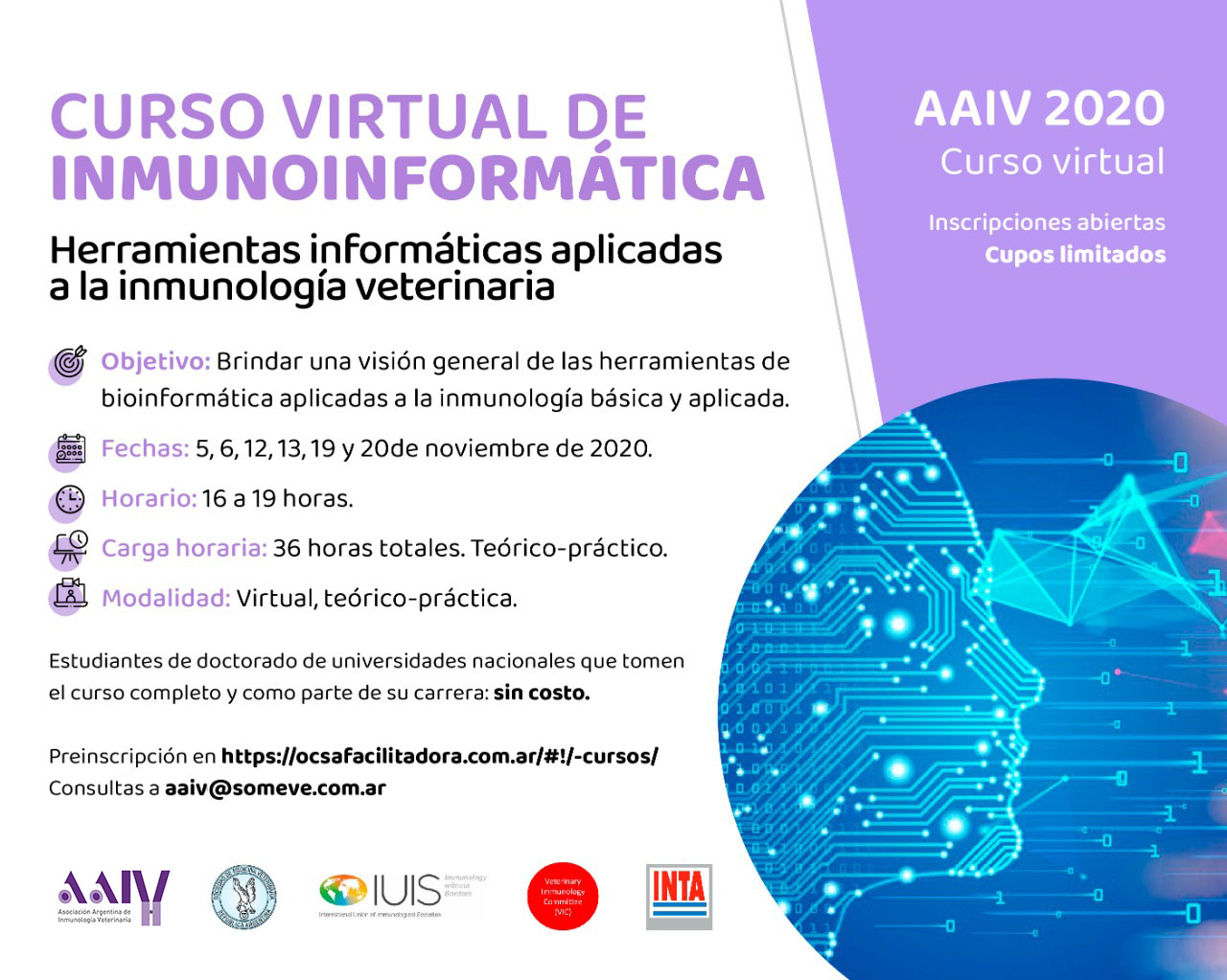 CURSO VIRTUAL DE INMUNOINFORMÁTICA